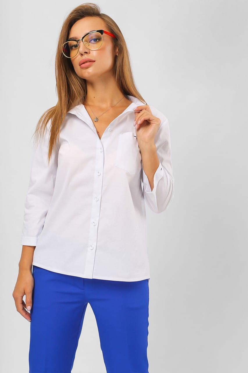 строгая шифоновая блуза