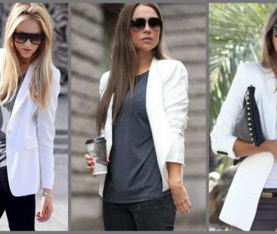 С чем носить белый пиджак: советы, идеи, рекомендации
