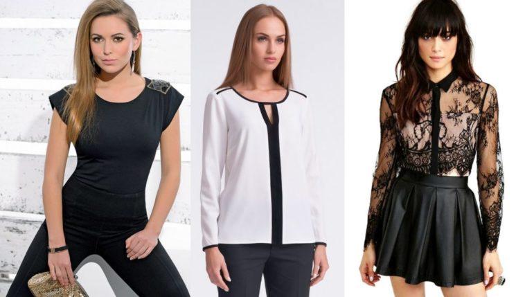 Модные блузки из шифона фото