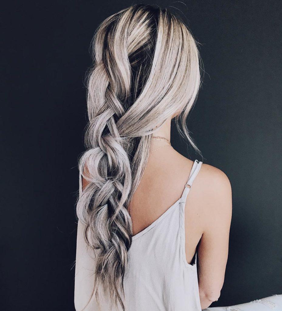 черно-белый цвет волос