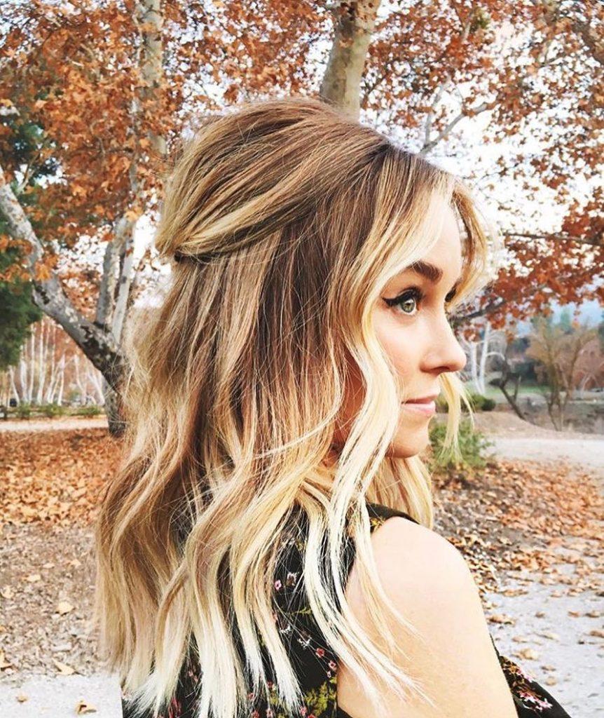 Золотой цвет волос с эффектом омбре