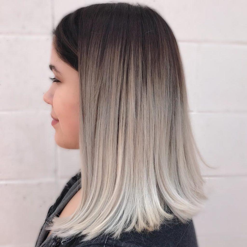 Контрастный цвет волос