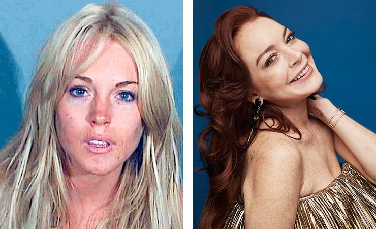Линдси Лохан фото до и после алкогольной завимисоти