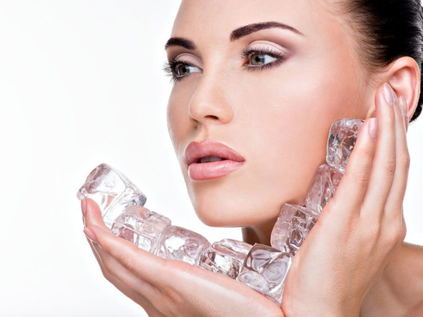 Польза для здоровья от протирания кожи лица льдом