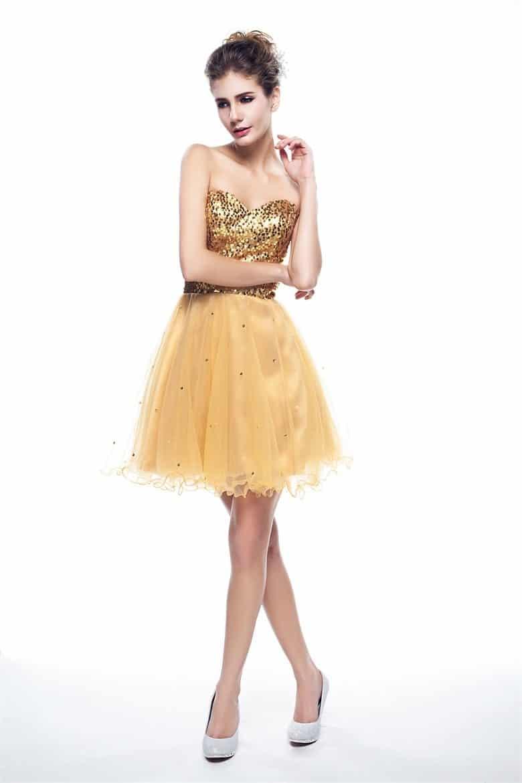 короткое платье на выпуск
