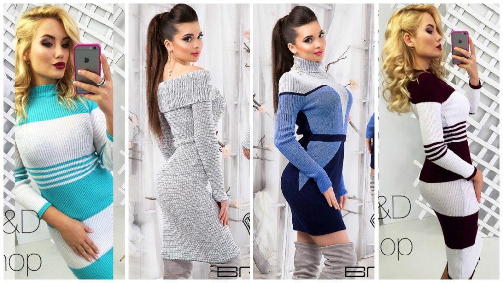 модные вязаные платья фото