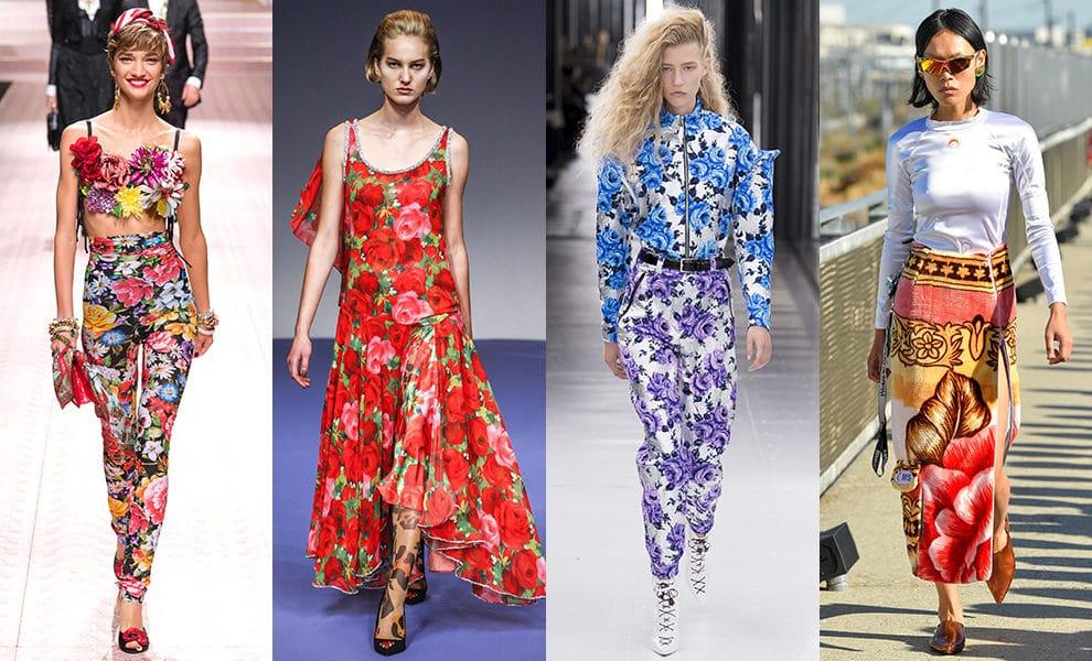 Dolce & Gabbana, Richard Quinn, Louis Vuitton, Marine Serre весна-лето 2019