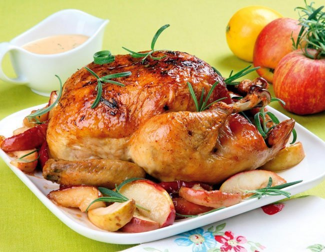 Курица гриль с цикорием и соусом. Рецепт