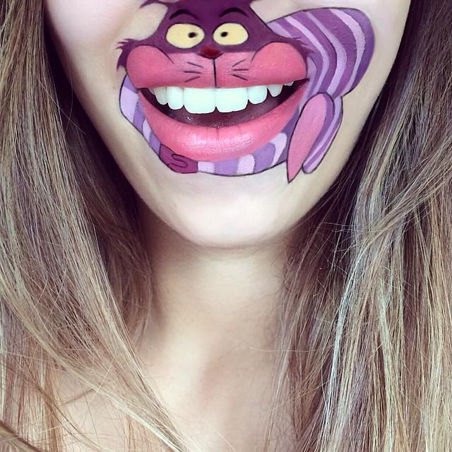 прикольный макияж губ