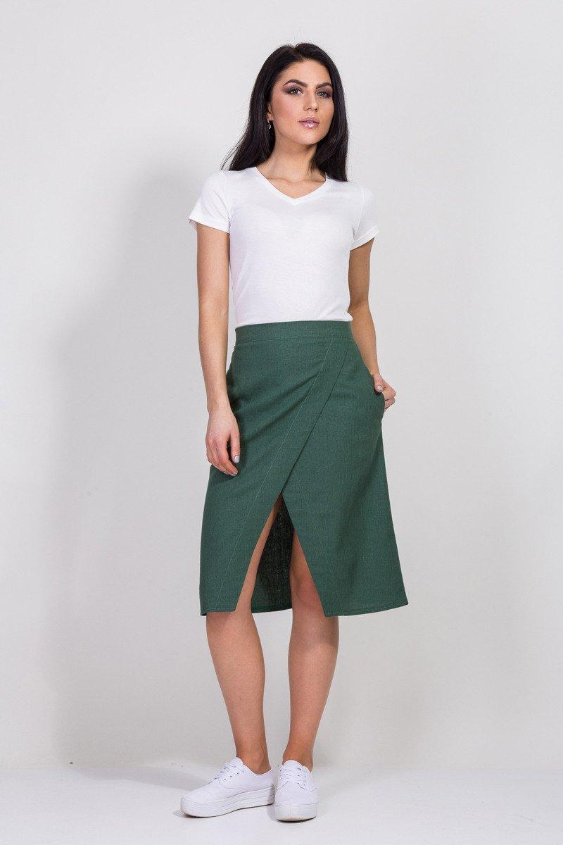 льняная женская юбка