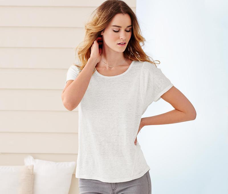 льняная женская футболка