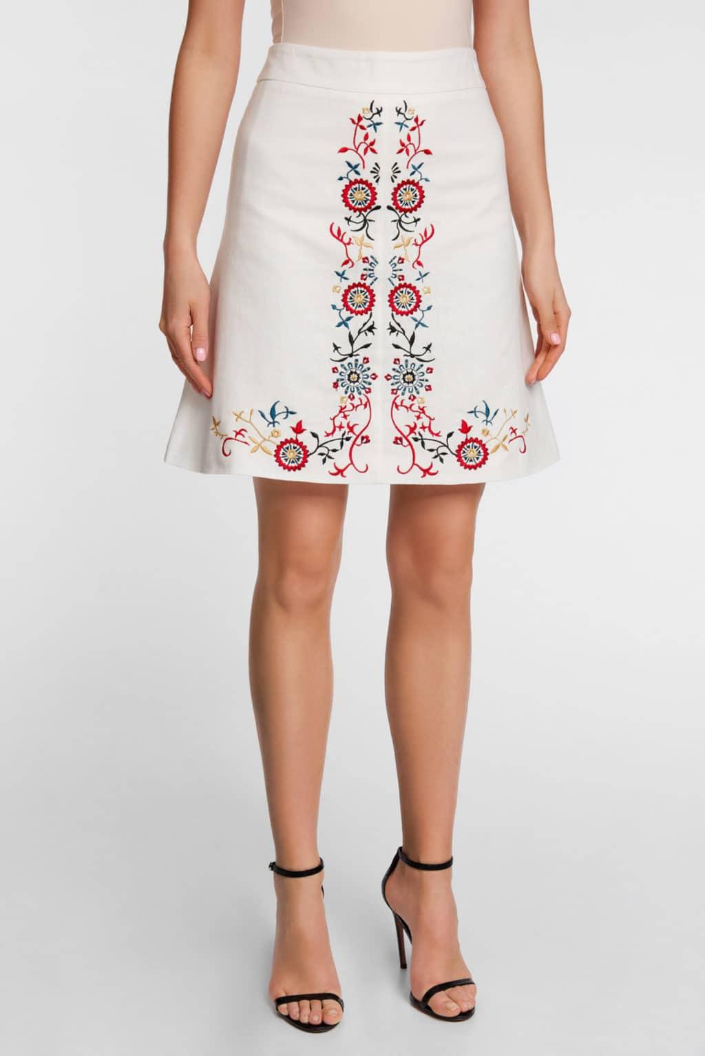 льняная юбка женская