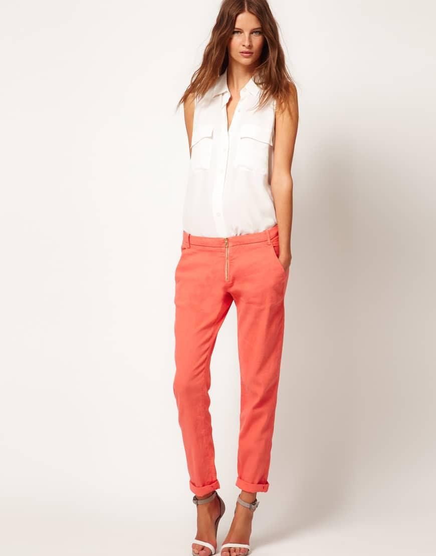 модные брюки из льна