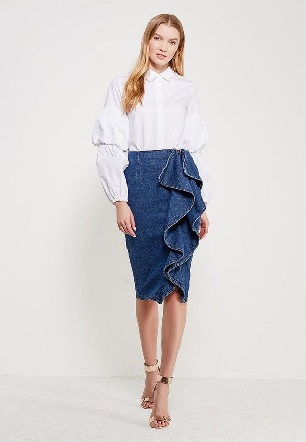 джинсовые юбки макси