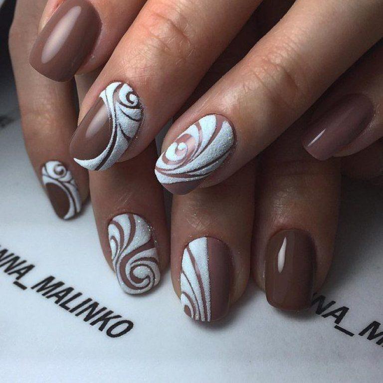 рисунок на короткие ногти