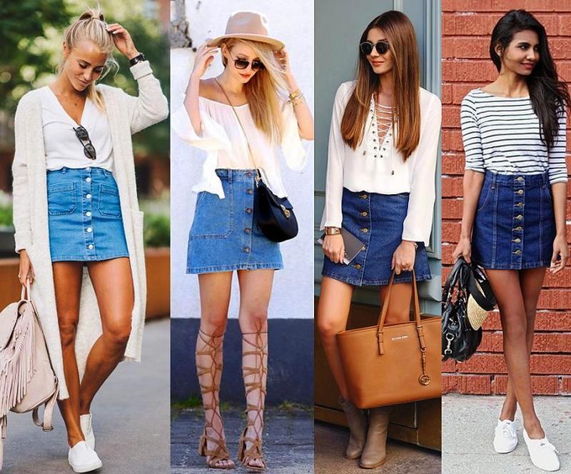 Модные джинсовые юбки 2019