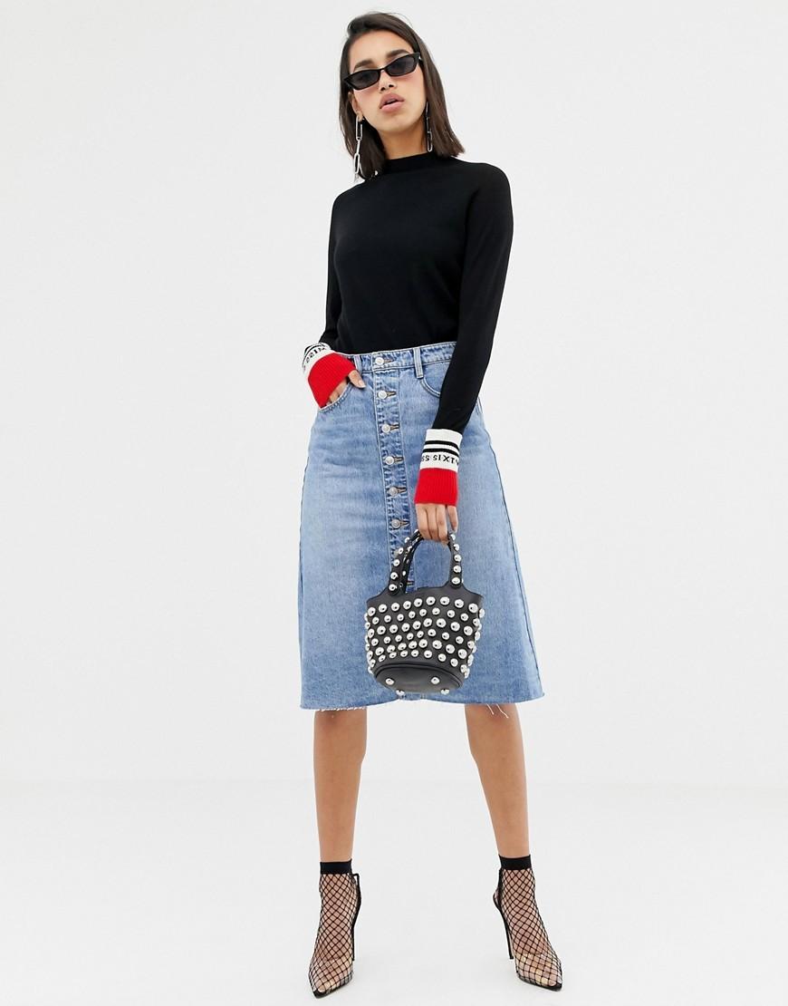 стильные джинсовые юбки макси