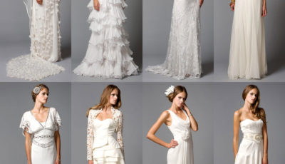 Эффектные свадебные платья с драпировкой