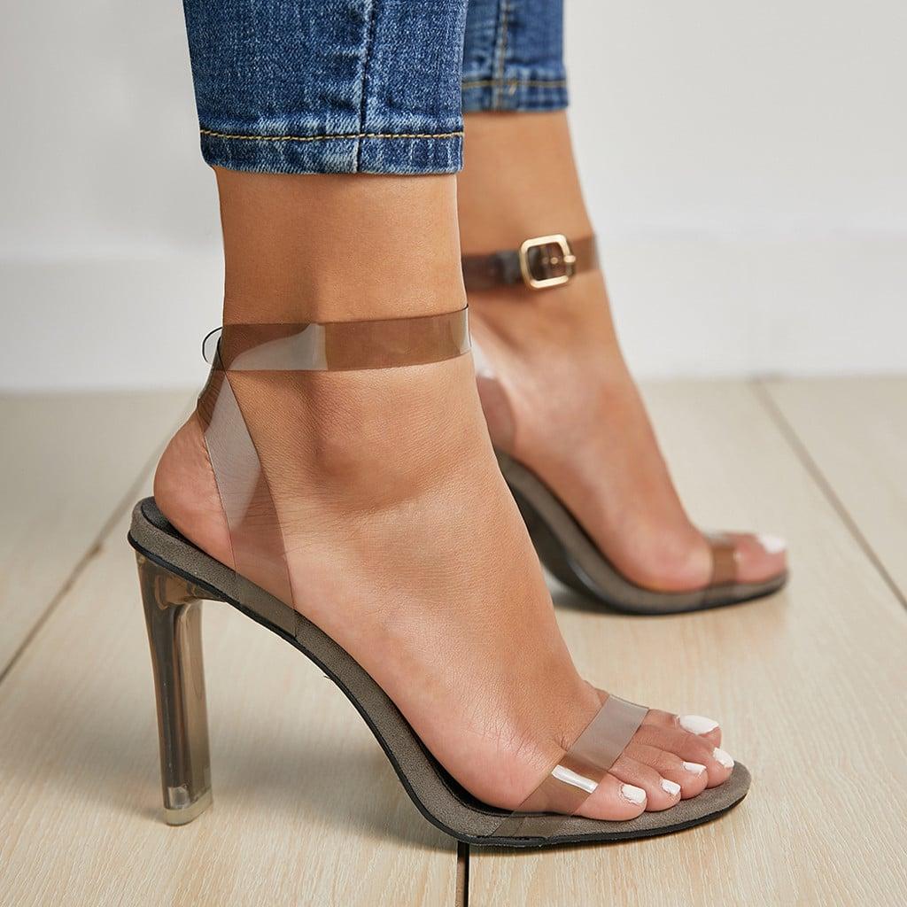 Женские прозрачные сандалии