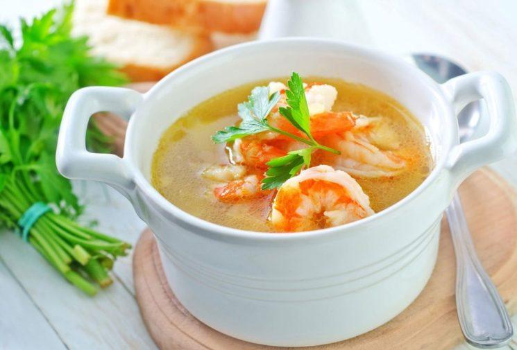 Рыбный суп с креветками: рецепт и ингредиенты