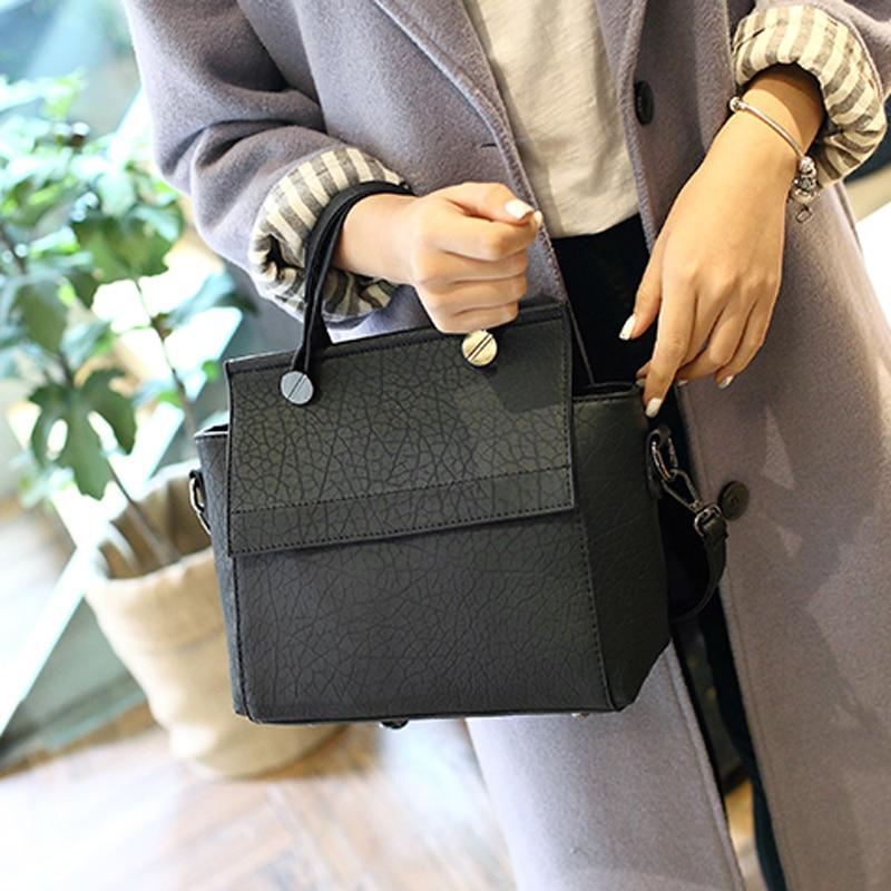 женская трапециевидная кожаная сумка