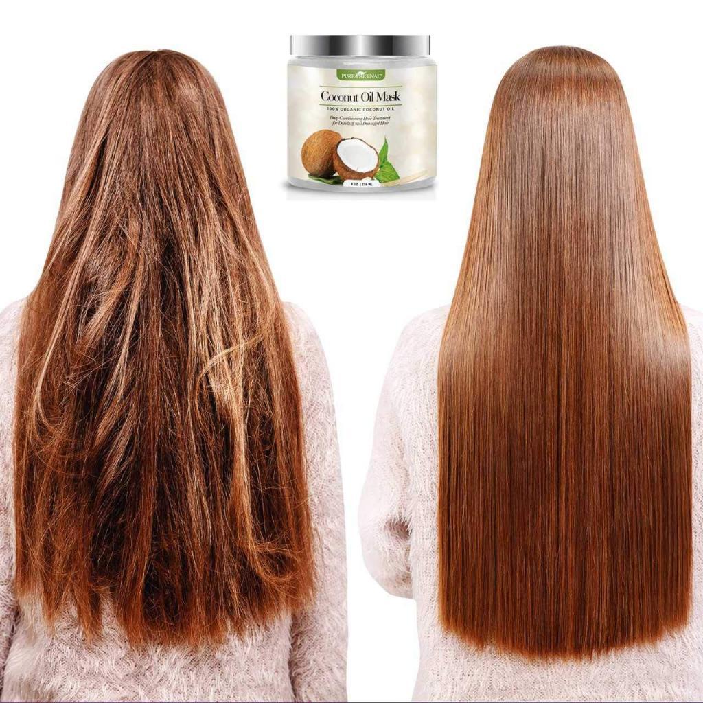 Маска для выпрямления волос с кокосовым маслом