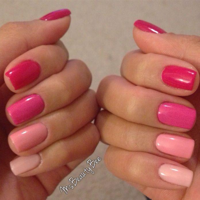 Розовая цветовая палитра - от темно-розового до светло-розового