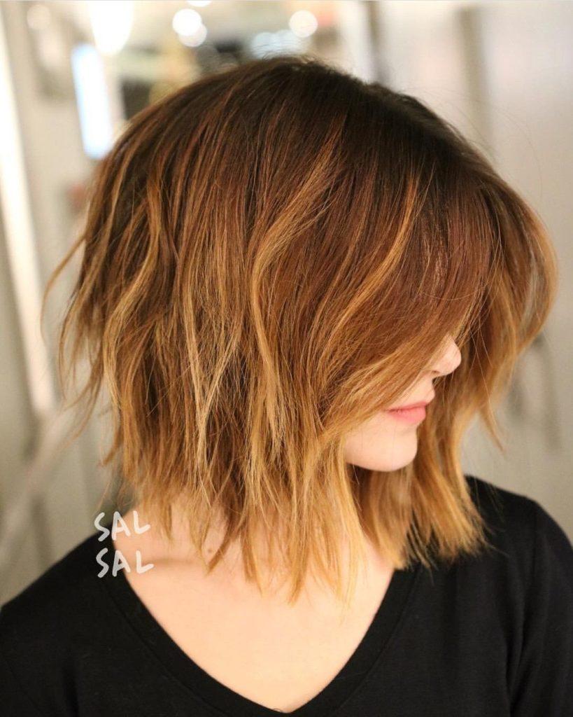 Стрижка для средних тонких волос