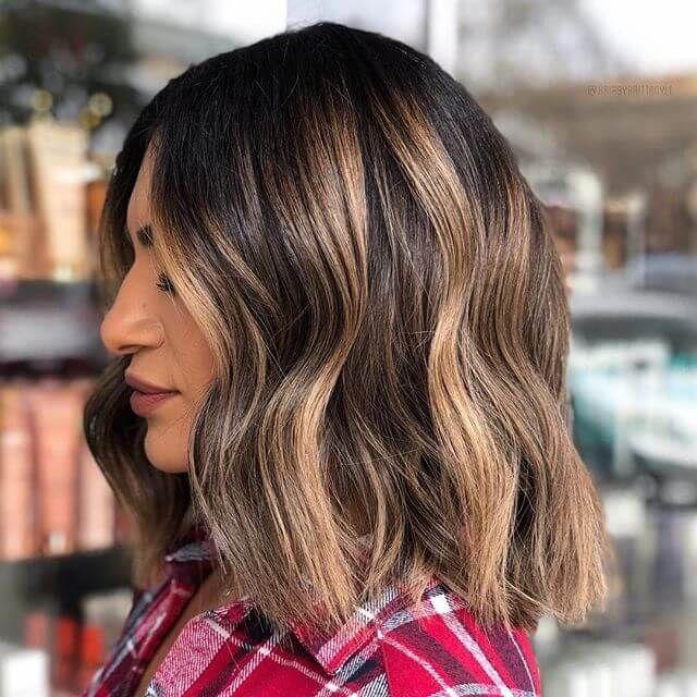 Прическа Блант Лоб для густых волос