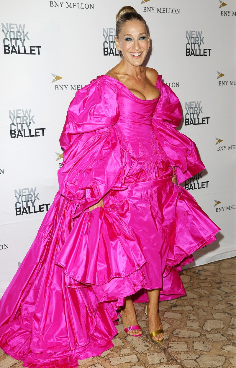 Сара Джессика Паркер в розовом платье