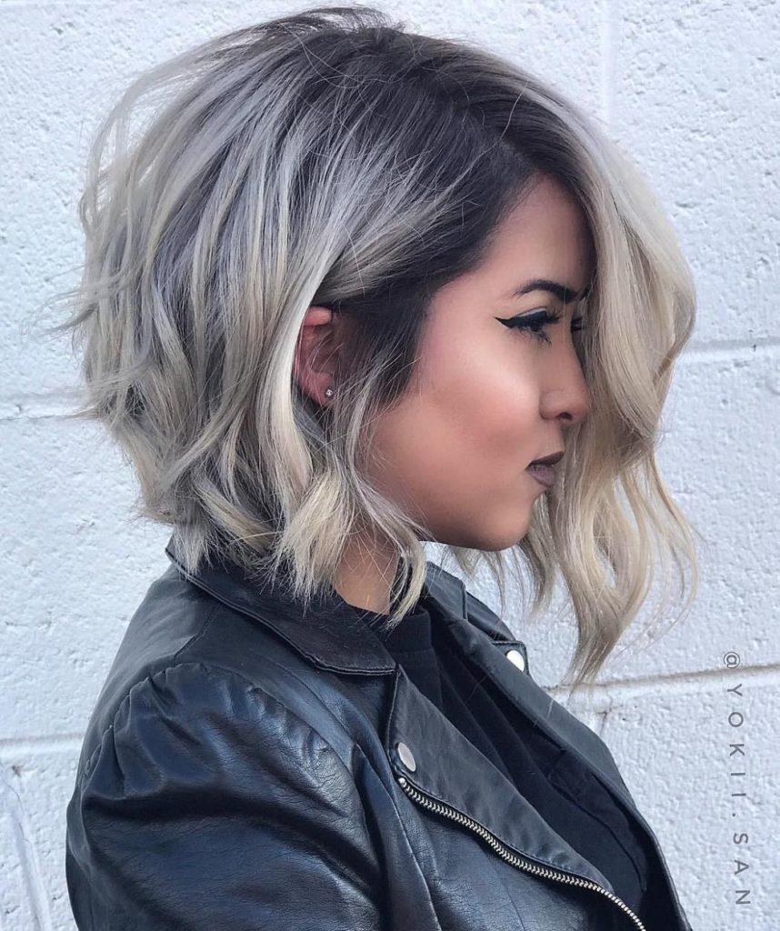 Асимметричная прическа на короткие волосы