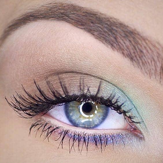 Цветной макияж глаз: Радуга