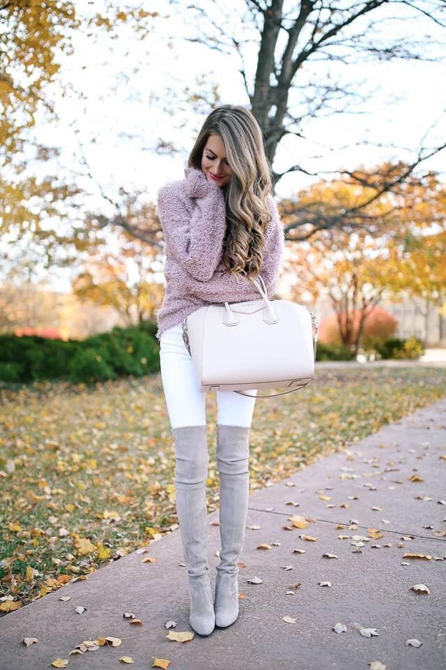 модный лук на зиму Немного нежности никогда не помешает