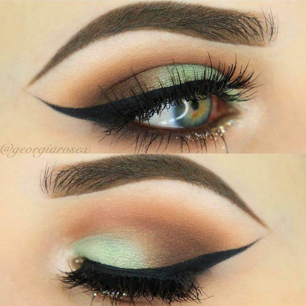 Лазурный макияж глаз