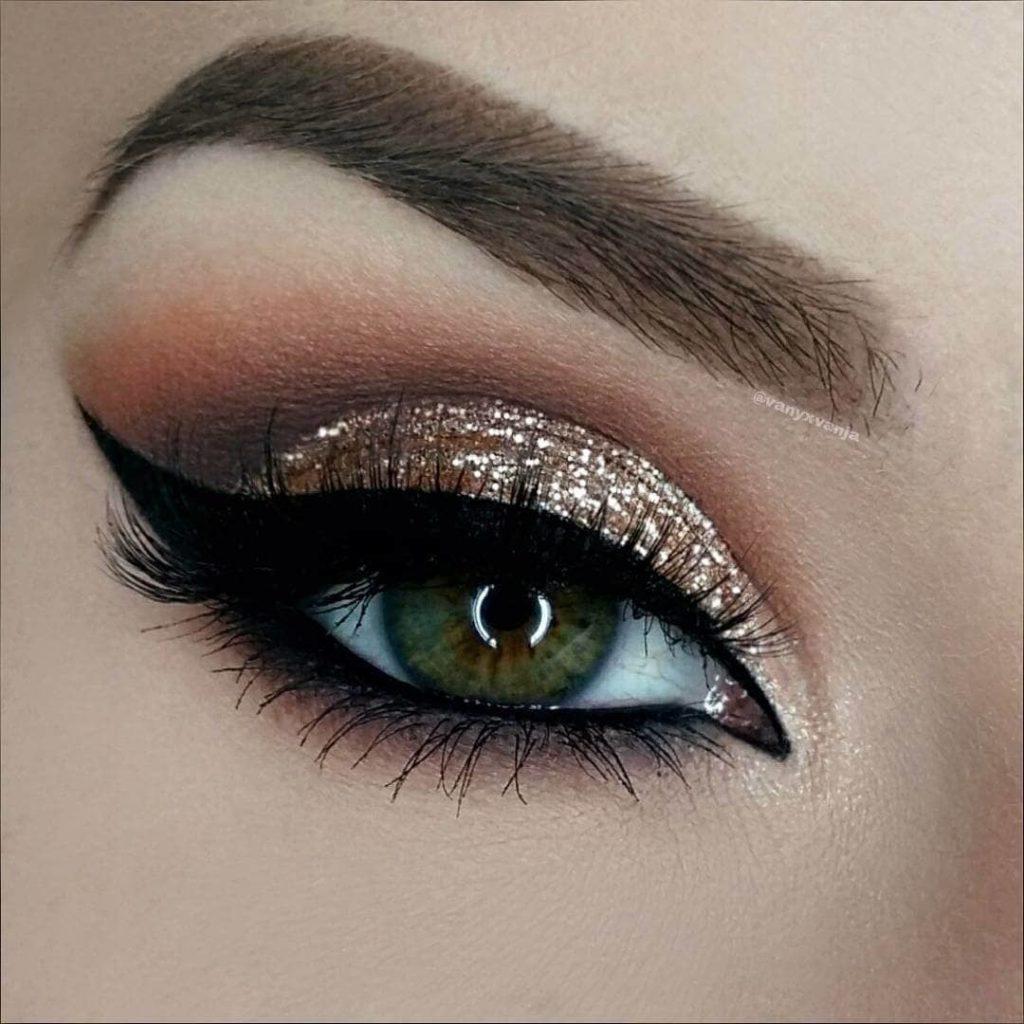 Бриллиантовый макияж глаз