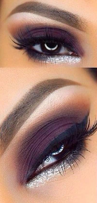 Сливовый макияж глаз