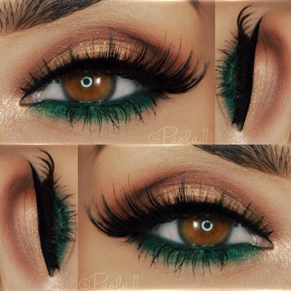Изумрудный макияж глаз