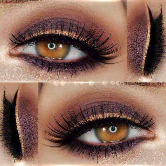 Осенний макияж глаз