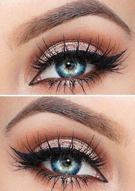 Нежный розовый макияж глаз