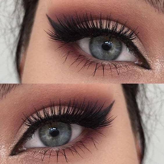 Макияж глаз с глиттером