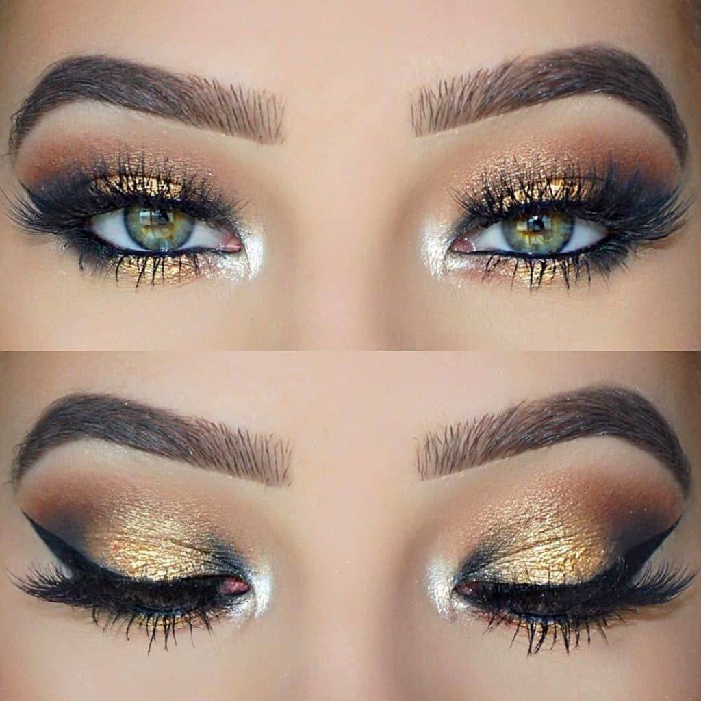 Змеиный макияж глаз