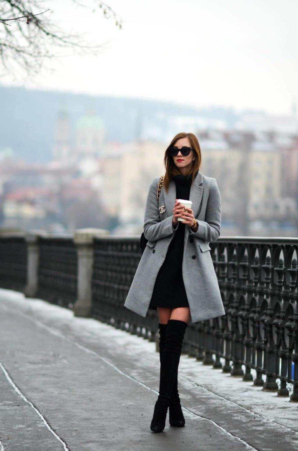 Идеальное серое пальто