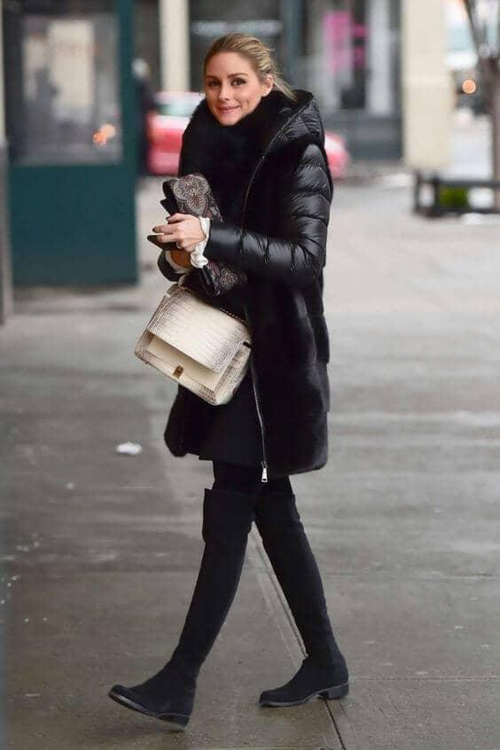 Леггинсы и зимняя куртка