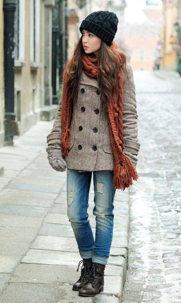 Лучшее коричневое зимнее пальто