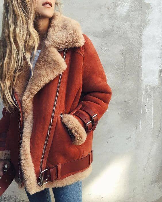 Винтажное замшевое пальто