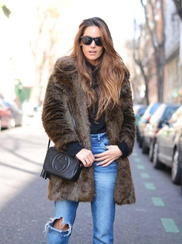 Зимняя стильная шуба на каждый день