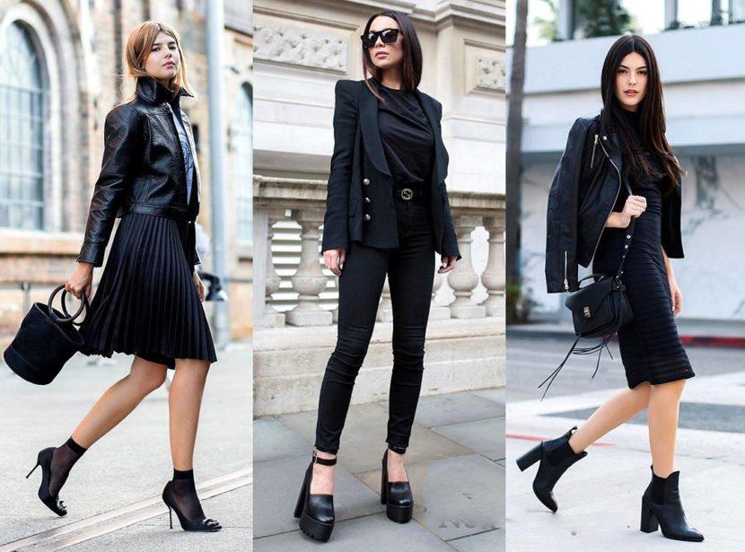 25 идей для модного черного лука на каждый день: 2019-2020