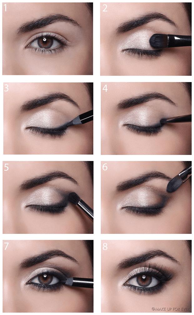 как сделать Классический лифт-макияж глаз пошагово
