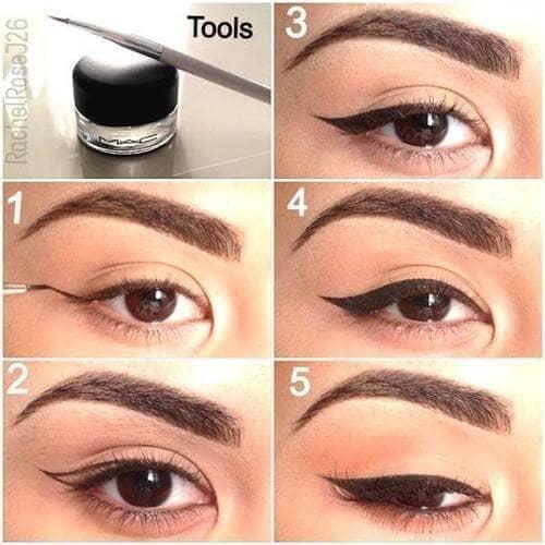 как сделать Классический макияж со стрелками пошагово