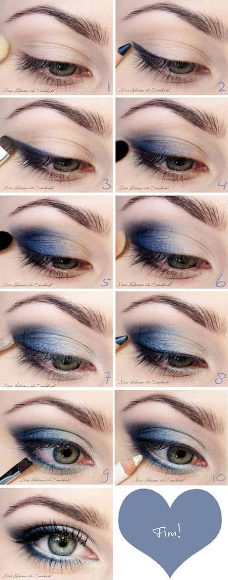 как сделать Макияж глаз с эффектом омбре пошагово